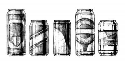 Плакат Набор банок для напитков