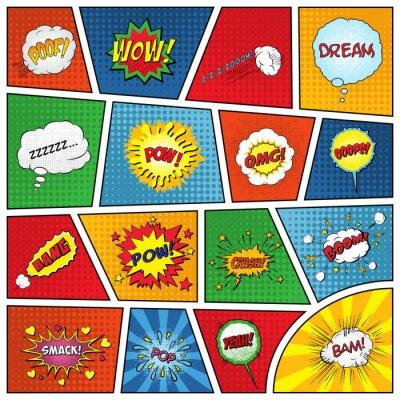 Плакат Набор комических звуковых эффектов
