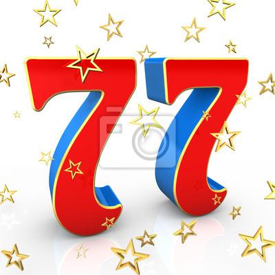 Открытка 77 лет с днем рождения