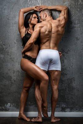 Плакат Сексуальная пара в нижнем белье