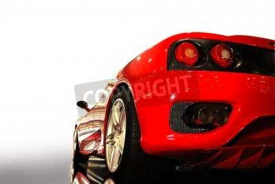 Плакат  shot  of a  red sports car (ferrari)
