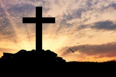 Плакат Силуэт креста