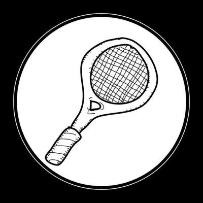 Плакат Простой каракули теннисной ракеткой