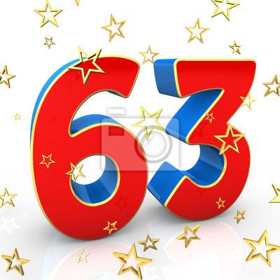 Поздравительная открытка на 63 года