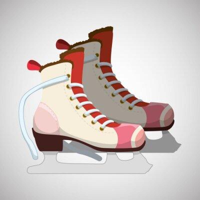 Плакат Катание на коньках значок дизайн