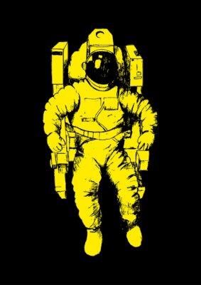 Плакат Эскиз иллюстрации астронавта
