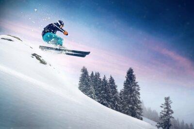 Плакат Лыжный трамплин