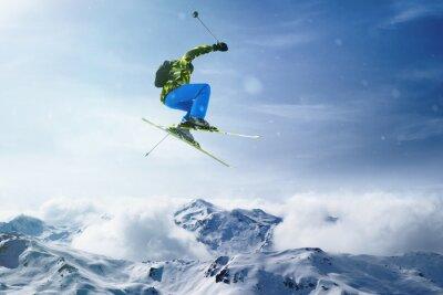 Плакат Лыжник прыжки