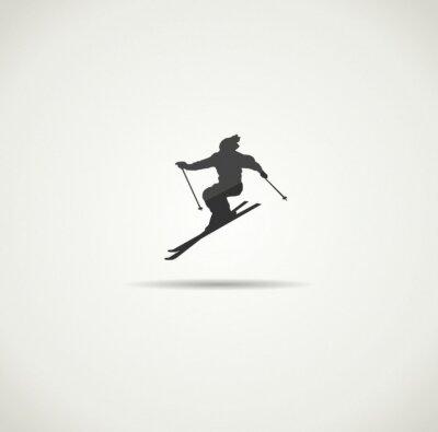 Плакат лыжник