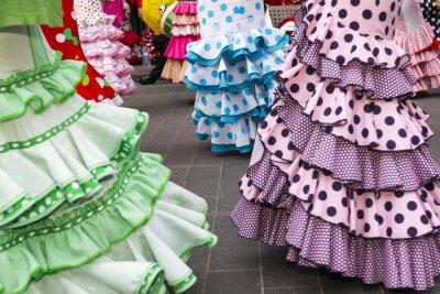 Плакат юбки испанских танцоров фламенко