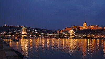 Плакат Skyline Budapest Цепной мост