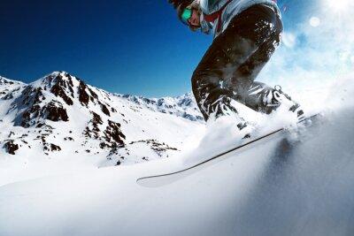 Плакат Сноубордист катится вниз