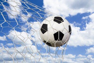 Плакат Футбольный мяч в сетку ворот