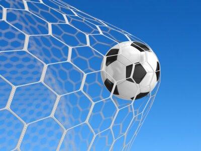 Плакат Футбольный мяч в сетку