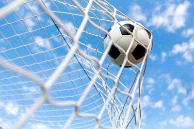 Плакат Футбол, цели, футбольный мяч.