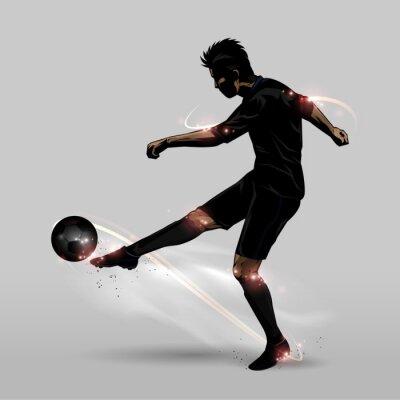 Плакат футболист половина залп