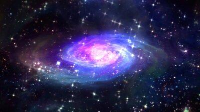 Плакат пространство голубой галактики в пространстве.
