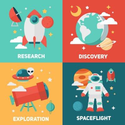 Плакат Космическая тема баннеры и открытки