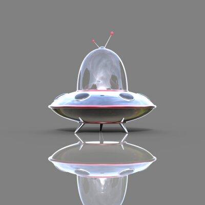 Плакат космический корабль