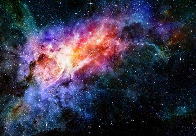 Плакат звездное глубокий космос туманность и галактики