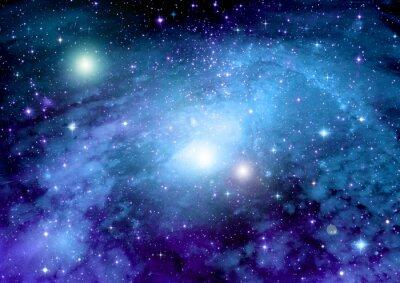 Плакат Звезды, пыли и газа туманности