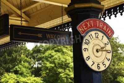 Плакат Станция Часы