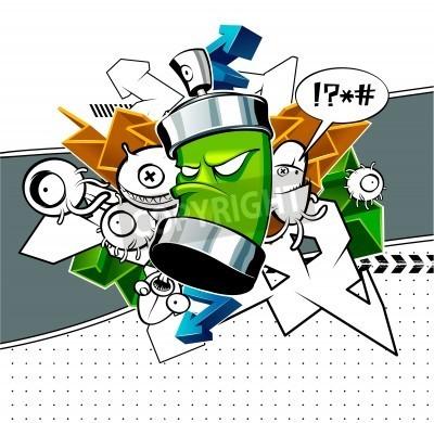 Плакат Странно граффити изображение с банкой