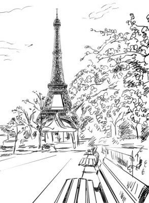 Плакат Улица в Париже.