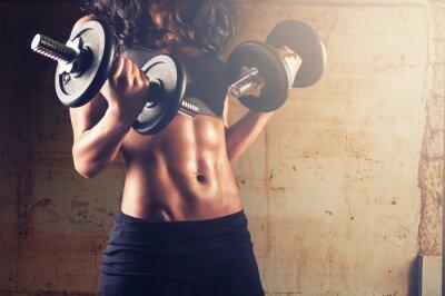 Плакат Сильное тело женщина тренировки