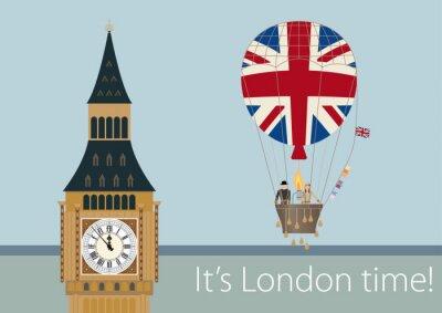 Плакат Стильные рисунки Лондон