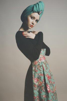 Плакат Стильный изящная дама