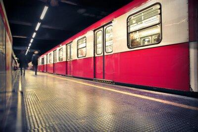 Плакат метро