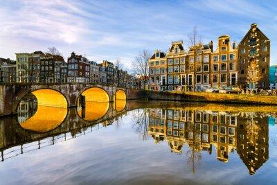 Плакат Солнечное утро в Амстердам, Нидерланды