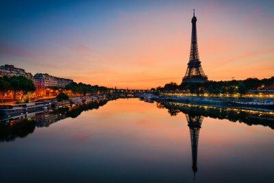 Плакат Sunrise at the Eiffel tower, Paris