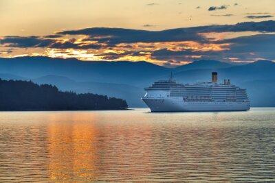 Плакат Восход солнца в греческой архипелага