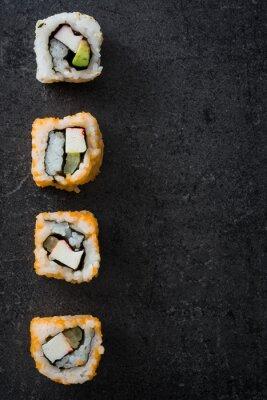 Плакат Суши. японская еда