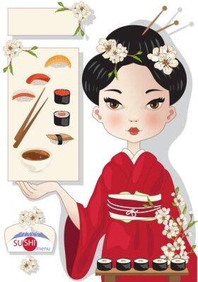 Плакат Суши меню
