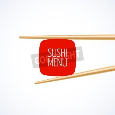 Плакат Sushi menu cover template