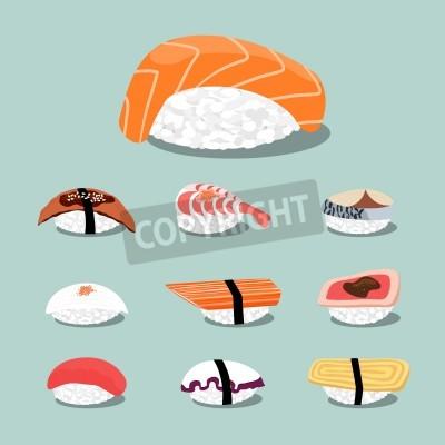 Плакат Суши набор иконок