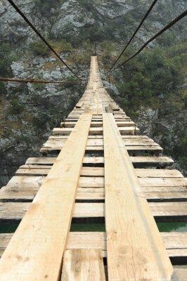 Плакат Подвесной мост в каньоне
