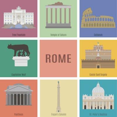 Плакат Symbols of Rome