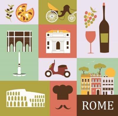 Плакат Символы Риме. Вектор