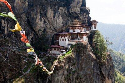 Плакат Taktshang Goemba, гнездо монастырь Тигра в Бутане
