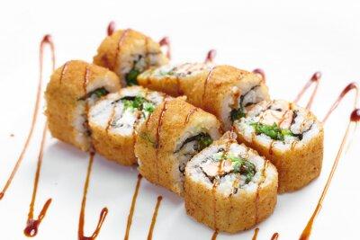 Плакат вкусные суши