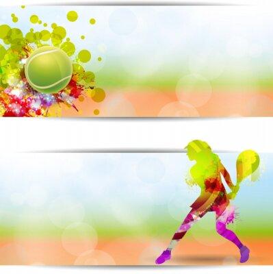 Плакат Теннис, Competizione, Torneo