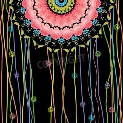 Плакат texture mandala design