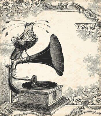 Плакат Птица музыка