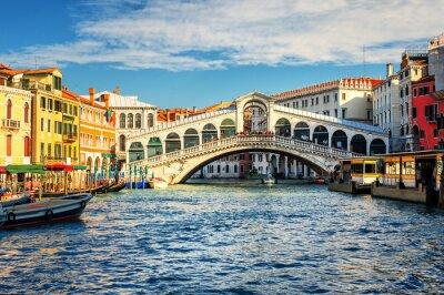 Плакат Большой канал и мост Риальто, Венеция, Италия