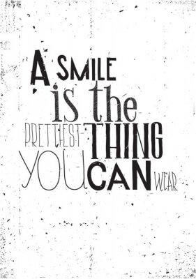 Плакат Фраза, улыбка является prettilest, что вы можете носить
