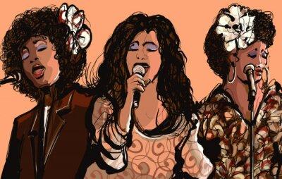 Плакат Три женщины, джаз певцы